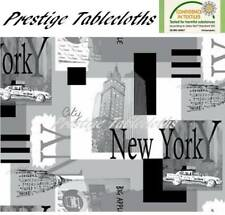 New York PVC Vinyl Wipe Clean Tablecloth - ALL SIZES - Code: F766-1