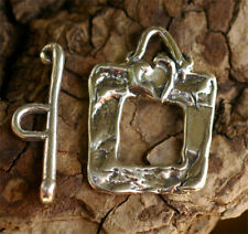 in Sterling Silver, Cl-07-130b Heart on Square Toggle