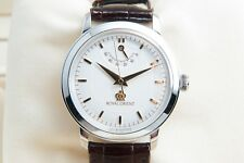 Rare ROYAL ORIENT WE0021EG Manual-Winding Silver 925 Case Men's Wristwatch #1931