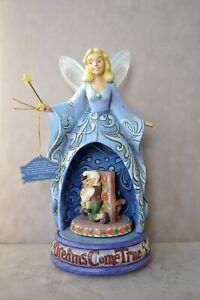 "Jim Shore ""DREAMS COME TRUE"" Blue Fairy Disney Pinocchio - 4010022 music & light"