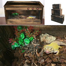 Large Reptile Cage Lizard Snake Breeding House Turtle Wooden Pet Tank 60*40*40Cm