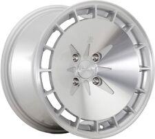 16X8 Klutch KM16 5x100mm ET15 Silver Wheels Rims Fits Jetta Golf Wrx Srt4