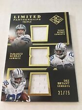 Dez Bryant/ Tony Romo/ DeMarco Murray 2014 Limited 3-Jersey #/75 Cowboys FREE SH
