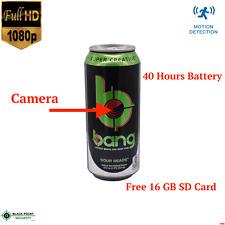 1080P Full HD Hidden Motion Detection Nanny Spy Camera Bang Can Energy Drink DVR