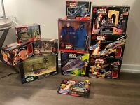 Huge Lot Of 12 Vintage 1999 Star Wars Collectable Figurines And Action Figures