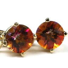 Twilight Fire Topaz, , 14KY Gold Leverback Earrings, E017