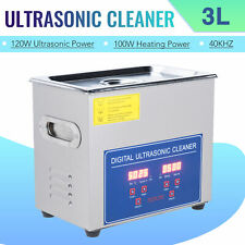 Digital 3L 304 Stainless Steel Ultrasonic Cleaner Industry Heated Heater w/Timer