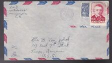 NICARAGUA MAILED TO TEMPE ARIZONA 1957 AIRMAIL ENVELOPE
