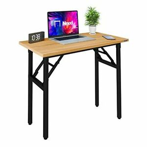 Need Small Desk 40cm Width Folding Desk Table No Assembly Required Sturdy and He