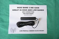 HIDDEN GLASS WINDOW MOUNT BNC ANTENNA FOR HAM RADIO- SCANNER DIGITAL ANALOG BNC