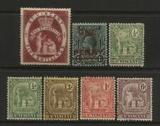 St Vincent Collection 7 Early Stamps Unused Mounted