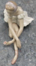 Lladro Ballerina Sitting With Rose