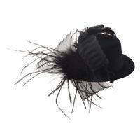 Feder Organza Folie Schleier Hut Minihut Haarclips Haarklammer Haarklemmen Z5G4
