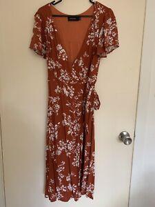 Mink Pink Desert Bloom Midi Dress Large. Worn Once Only
