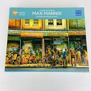 MAX MANNIX Australian Art 1000 Pc Puzzle 'Saturday Morning Rush Hour' COMPLETE