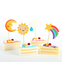 4pcs cupcake topper cloud moon sun star paper cake topper party decoration BR