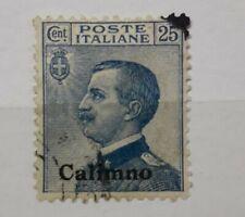 1912 REGNO FRANCOBOLLO EGEO CALINO 25 CENTESIMI USATO