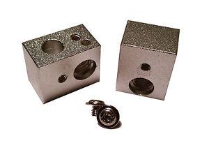 "MK10 M7 Heat Block Hotend 6mm 1/4"" Heater MakerBot Replicator FlashForge 1/4 6"