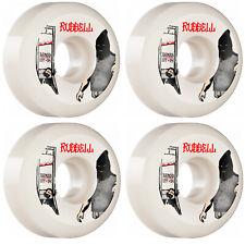 Bones Skateboard Wheels 54mm Russell Executioner V5 Sidecut SPF 104A White