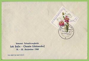 Germany DDR 1968 Chess Championship, Lok Sofia - Chemie Lutz commemorative cover