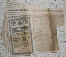 Ville de BUDAPEST - 8 Emprunts / Obligations 4%, avec coupons - 1911