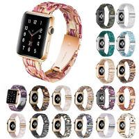 Resin Band for Apple Watch Series 6 5 4 3 Strap Stainless Steel Buckle Bracelet