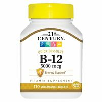 21st Century B 12 5000 mcg Sublingual Tablets, 110 Count