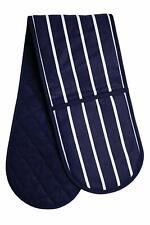 Double Oven Gloves 100% Cotton Mitt Padded Heat Resistance Insulated Kitchen UK