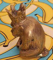Vintage sitting monkeyBrass Sculpture Javanese 3 Inch High