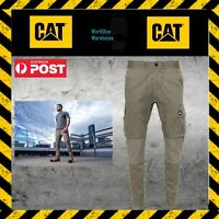 NEW CATERPILLAR CAT Dynamic 1810032 Khaki Comfortable Pull On Pants