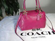 NWT Coach Madison Leather Licby Mini Satchel Crossbody Bag F49720 Cranberry