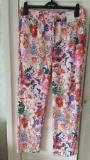 M&S Per una Roma floral print trousers 12 regular BNWT