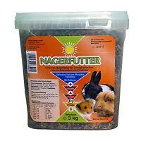 Nagerfutter, Futter für alle Nager 3kg - Zwergkaninchen Meerschweinchen Hamster