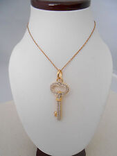 """Sterling Silver GF Key Pendant  on 18"""" Chain Necklace    231303"""
