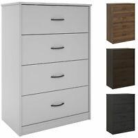"40"" Tall 4-Drawer Modern Dresser Chest Bedroom Storage Wood Furniture 6 Finishes"