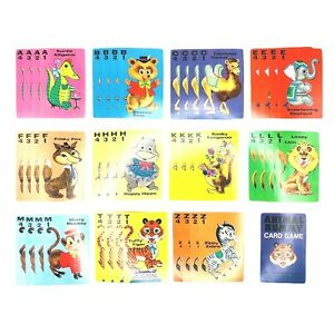 Whitman Animal Rummy Vintage 45 Card Deck With Rule Card Circus Animals Kitschy