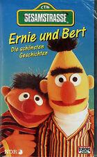 Ernie und Bert Sesamstrasse VHS Videocassette Cassette Video Original Film