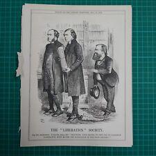 "7x10"" punch cartoon 1873 THE LIBERATION SOCIETY mr miall m.p."