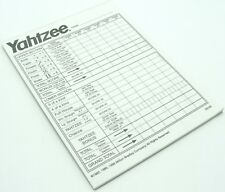 Yahtzee 28 Score Pad Sheets Replacement Game Part Piece Refill 1998