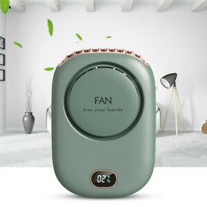 Mini Neck Fan Hanging Rechargeable Handheld Portable Air Cooler Lazy Sport Fans