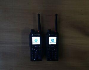 2 pcs Motorola MTP850 TETRA digital radio, 800MHz H60UCN6TZ5AN  PT711B
