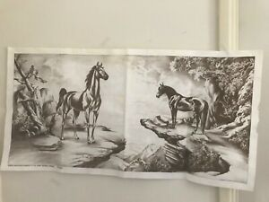 hobbytex pictures 1970s large unpainted Horse print