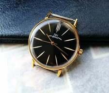 Vintage Luch ultra slim wristwatch in new stainless steel case Soviet watches