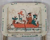 Vintage TV Tray Featuring Huckleberry Hound, Yogi Bear, Quick Draw McGraw