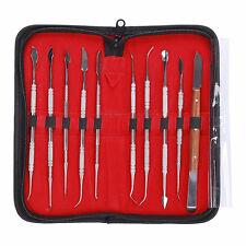 10X Rostfrei Stehlen Zahnarzt Zähne Wachs Carving Werkzeuge Instrument Kit Neu