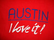 Vintage Austin I Love it Texas TX Capital Vacation Tourist T Shirt XL