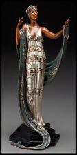 $18,000 ERTE Signed BRONZE Sculpture LA COQUETTE Original ART antique Female oil