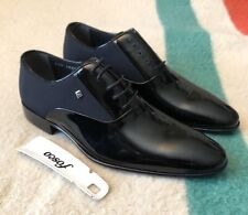 FOSCO Sorean Contrast Genuine Leather Dress Shoes Size 42 / US 9 NWOB