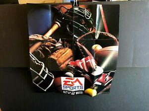 Sega Genesis EA Sports Baseball Poster Foldout Insert ONLY