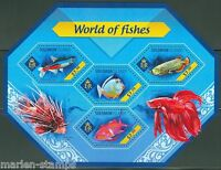 SOLOMON ISLANDS  2014 WORLD OF FISHES  SHEET  MINT NH